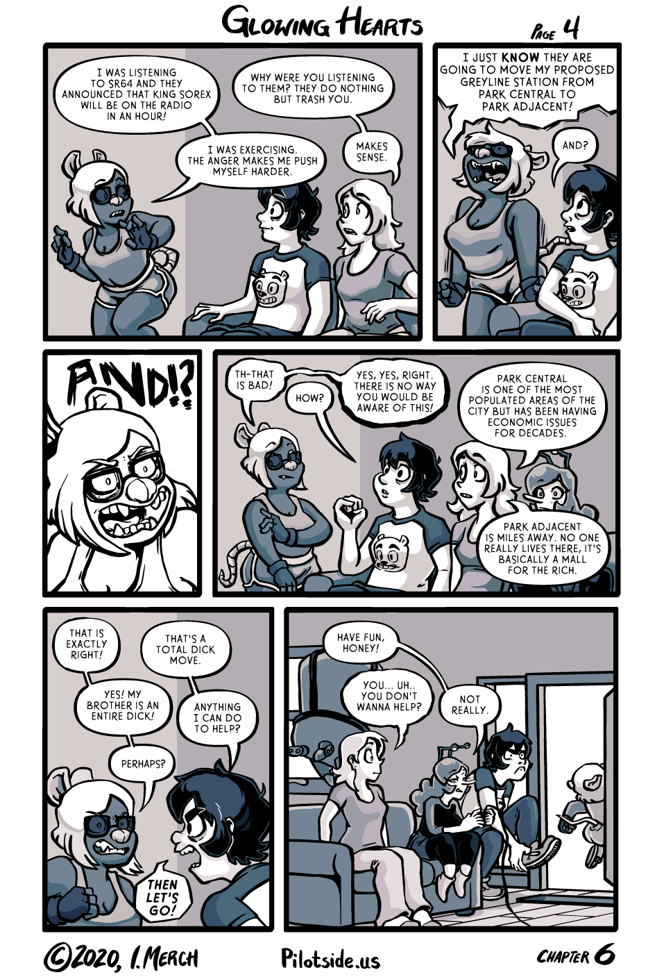 I changed my goal in drawing this comic from 'do a good job' to 'draw as many silly faces as I can'